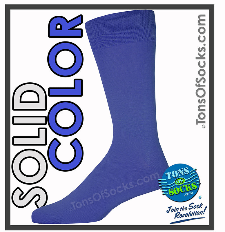Men's Vannucci Solid Color Dress Socks (Royal Blue)
