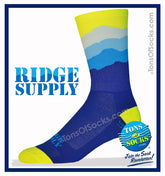 "Ridge Supply ""Skyline"" Performance Crew Socks (FINAL SALE)"