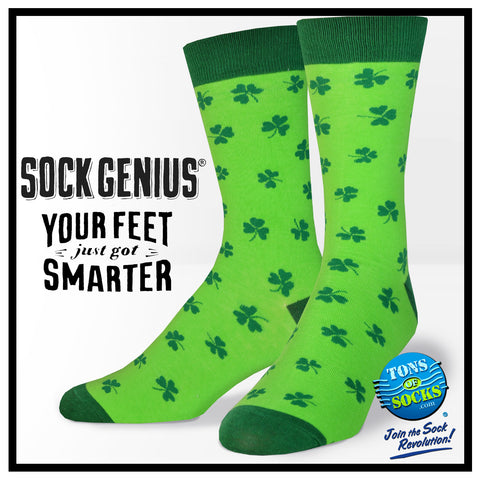 Men's Shamrocks Socks (Green) (NEW)