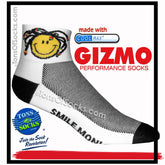 Gizmo CoolMax® Smile Mon Performance Socks (White)