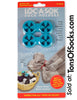Loc A Sok, Sock Locks 10 Pack, Double Ring (Teal Blue)