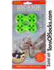 Loc A Sok, Sock Locks 10 Pack, Double Ring (Lime)
