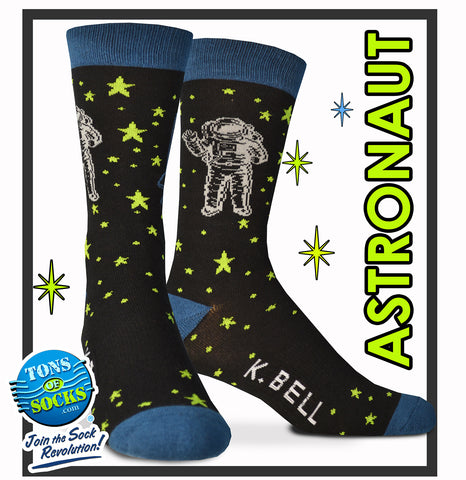 Men's Space Astronaut Socks (Made in USA) (NEW)