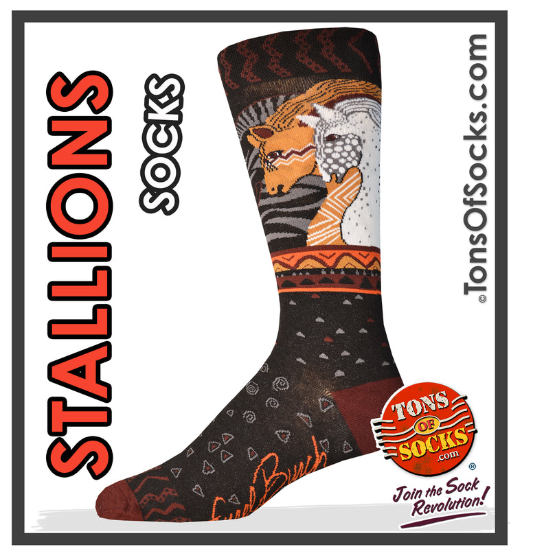 "Men's Laurel Burch ""Stallions"" Socks (NEW)"