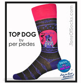 Men's Designer Top Dog Socks (Black)
