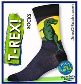 Men's Full Moon T-Rex Socks (Navy)