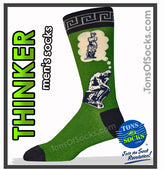 Men's The Thinker Socks (Green)