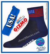 Gizmo CoolMax® USA Flag Performance Socks (Navy) (NEW)