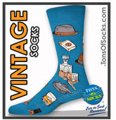 Men's Vintage Fellow Socks (Ocean)