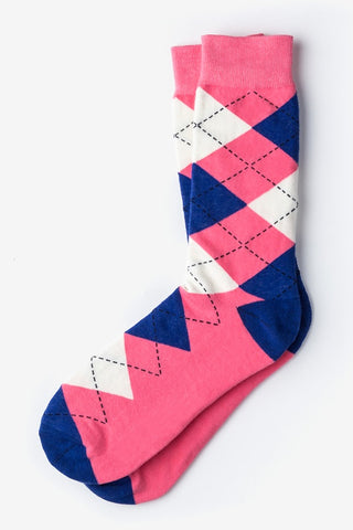 Men's Westminster Argyle Socks (Pink & Blue)