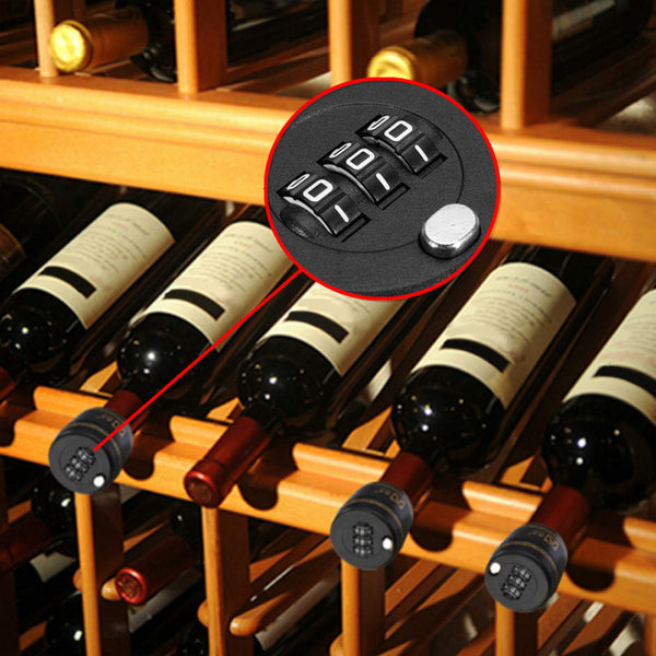 Combination Lock Wine Stopper With Vacuum Plug Preservation - Grab, Shop & Go