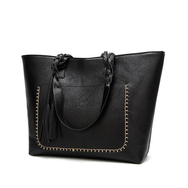Weimeibaige Oversized Leather Tote - Grab, Shop & Go