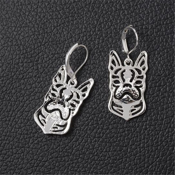Cute Boston Terrier Dangle Earrings (10 Pair Lot) - Grab, Shop & Go