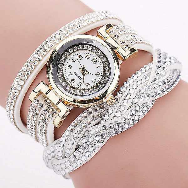 CCQ Rhinestone Braided Women's Watch - Grab, Shop & Go