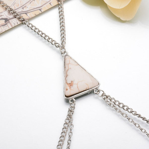 Exaggerated Triangle Stone Body Chain - Grab, Shop & Go