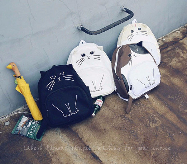 Lovely Cat Backpack - Grab, Shop & Go