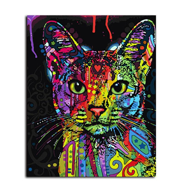 """Jane The Cat"" Painting By Numbers - Grab, Shop & Go"