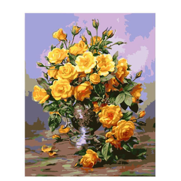 """Yellow Rose"" Painting By Numbers - Grab, Shop & Go"