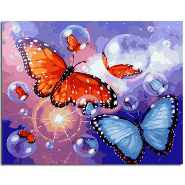 """Bubbles and Butterflies"" Painting By Numbers - Grab, Shop & Go"