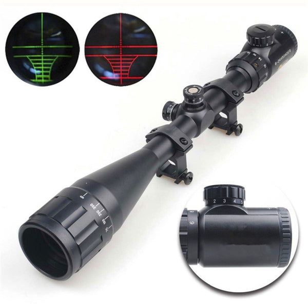 Adjustable Green/Red Dot Illuminated Tactical Riflescope For Shotguns - Grab, Shop & Go