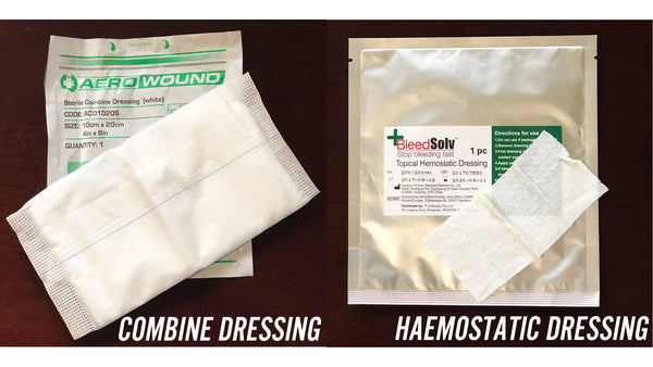COMBINE DRESSING VS. HAEMOSTATIC DRESSING