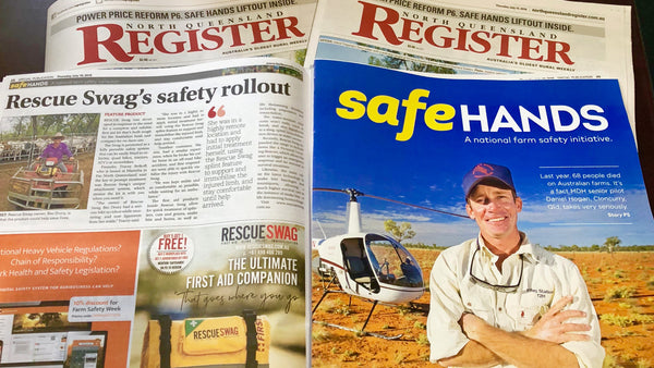 RESCUE SWAG SUPPORTS SAFE HANDS CAMPAIGN TO SAVE LIVES ON AUSTRALIAN FARMS