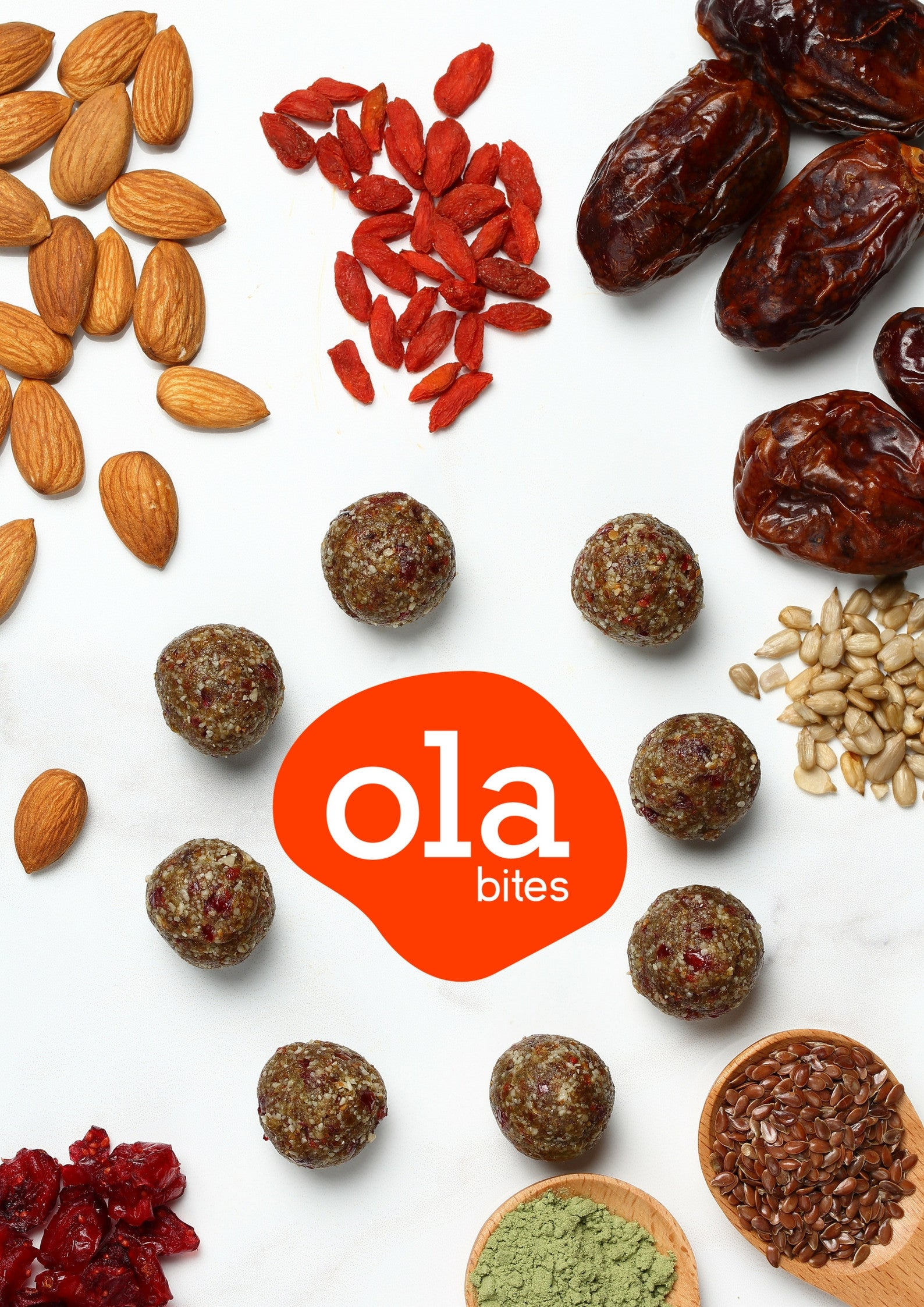 Ola Bites - Almond Cranberry (10 packs)