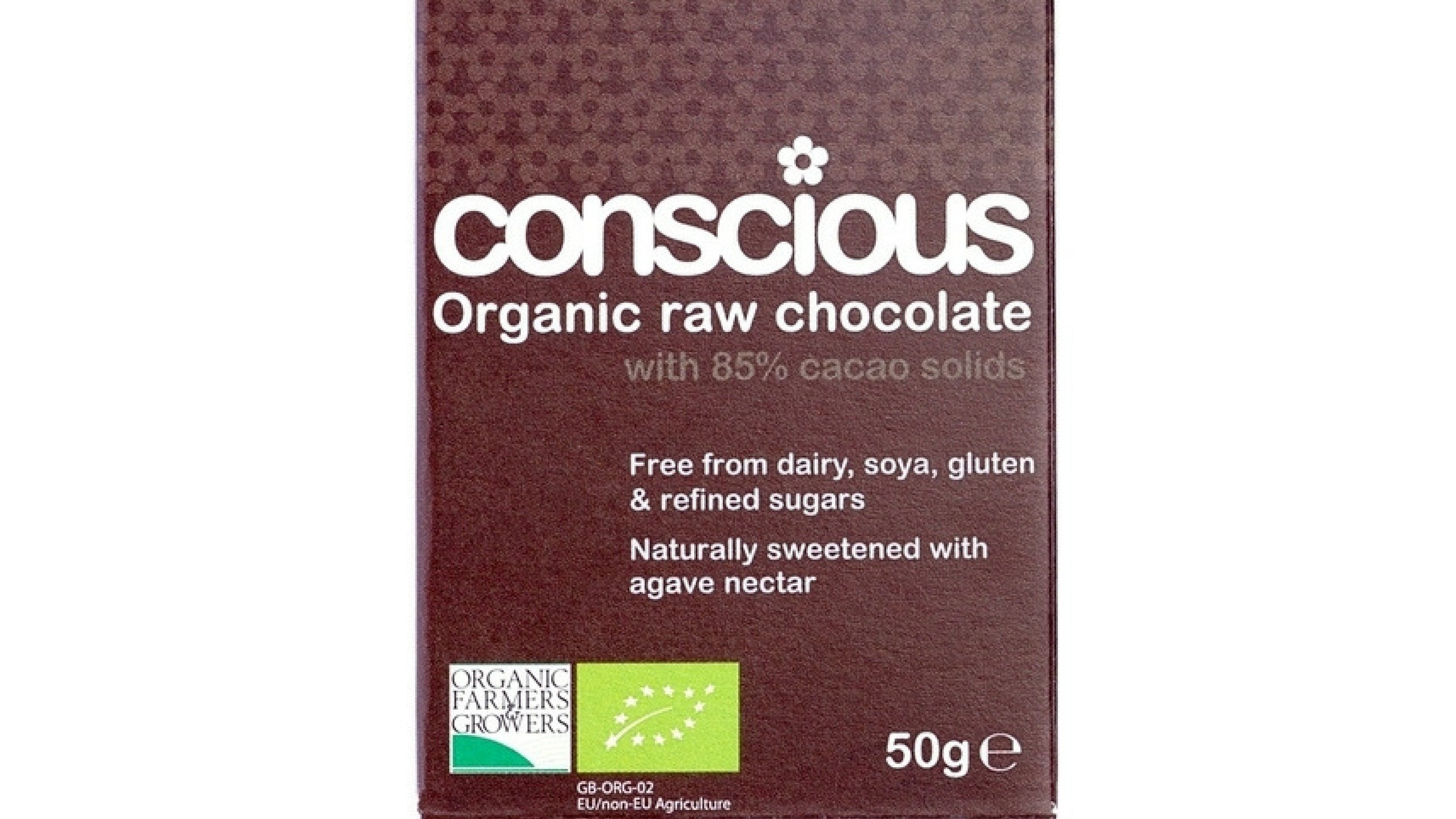 Raw Organic chocolate: 85% dark cacao (Vegan)