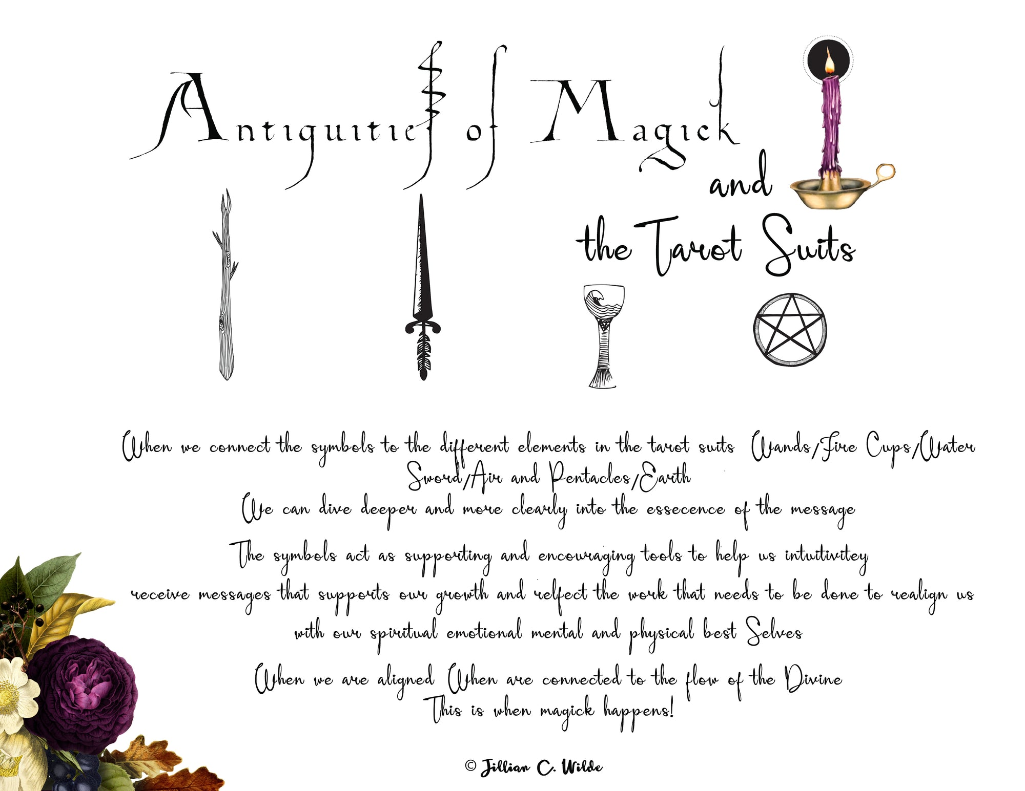 Antiquities of Magick & Tarot Suits EBOOK (Phone, iPad)