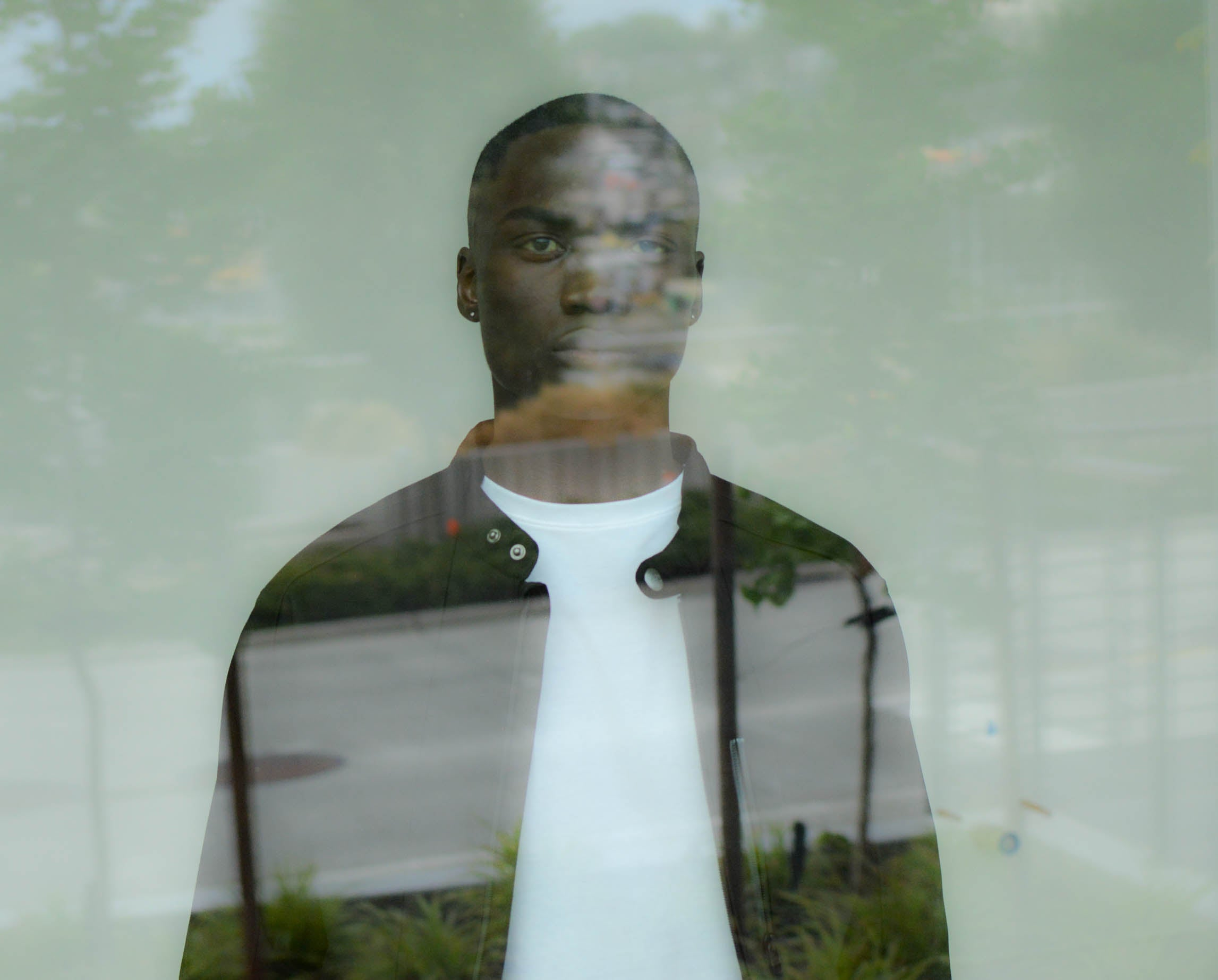 Double exposure seattle street photo by Gibran Hamdan Seattle based photographer