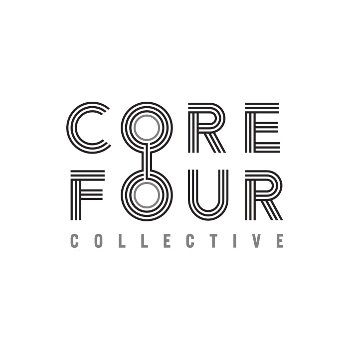 Core Four Collective branding, web design, & fashion by Gibran Hamdan