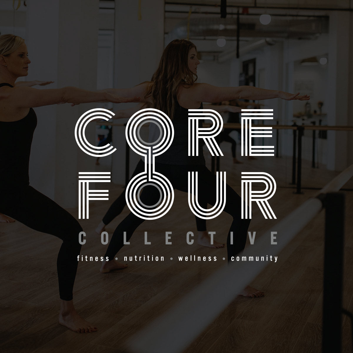 Core Four Logo and Brand Identity by Gibran