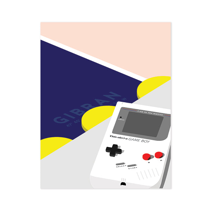 Gibran Hamdan art illustration This ain't a Game Boy
