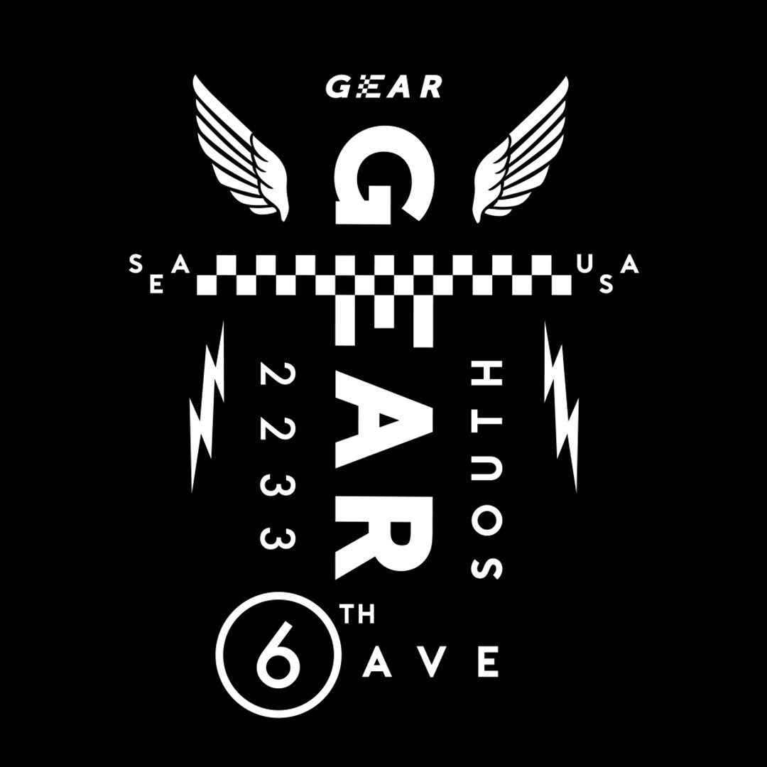 Gear Seattle, The Shop logo design by Gibran Hamdan.