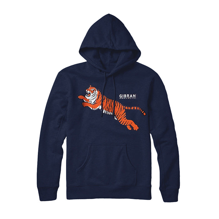 Jumping Tiger Hoodie sweatshirt by Gibran Hamdan