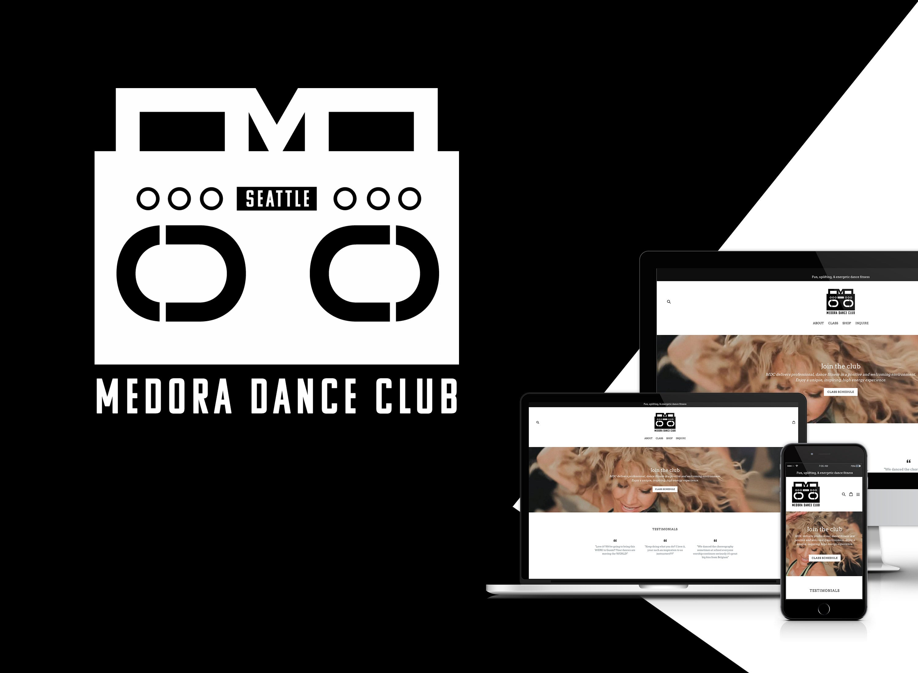 Gibran Hamdan Seattle branding expert, custom designs for Medora Dance Club