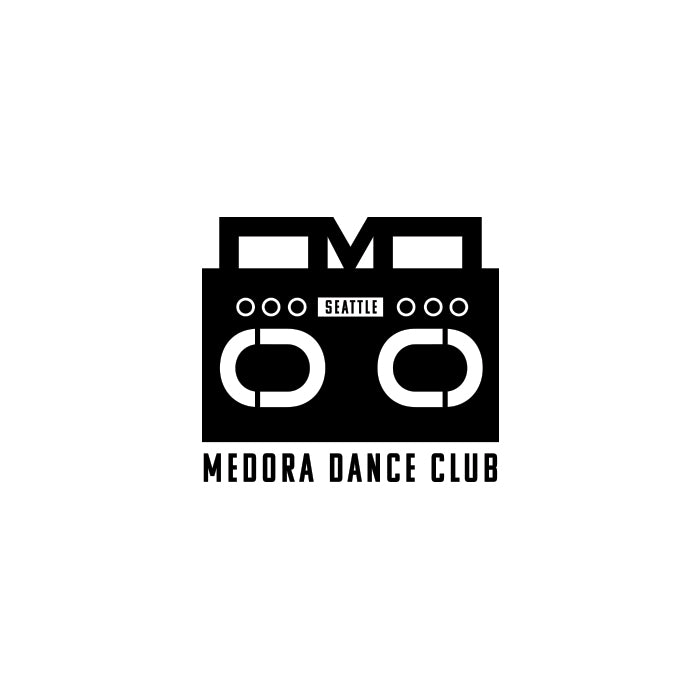 Gibran Hamdan logo design and web design and merch for Medora Dance Club