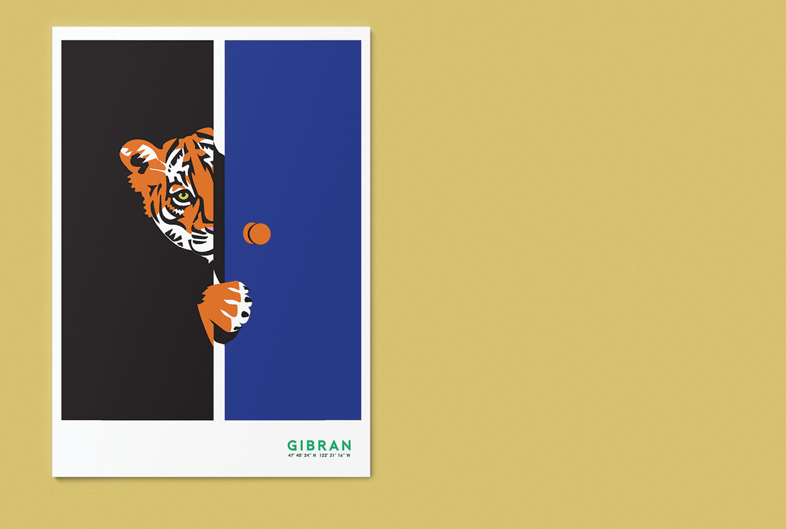 Tiger illustration by Gibran Hamdan