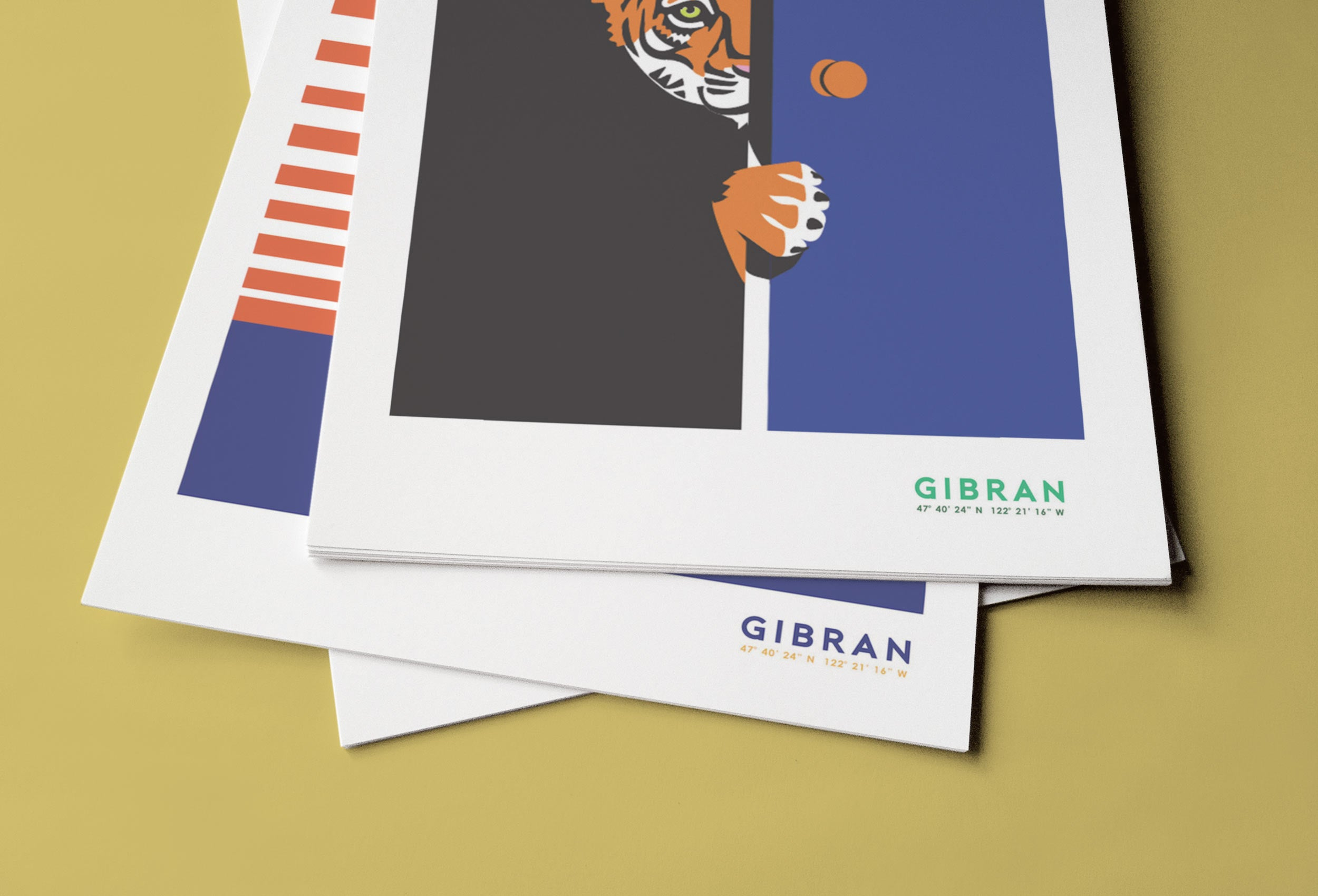 Tiger Illustration close up by Gibran Hamdan