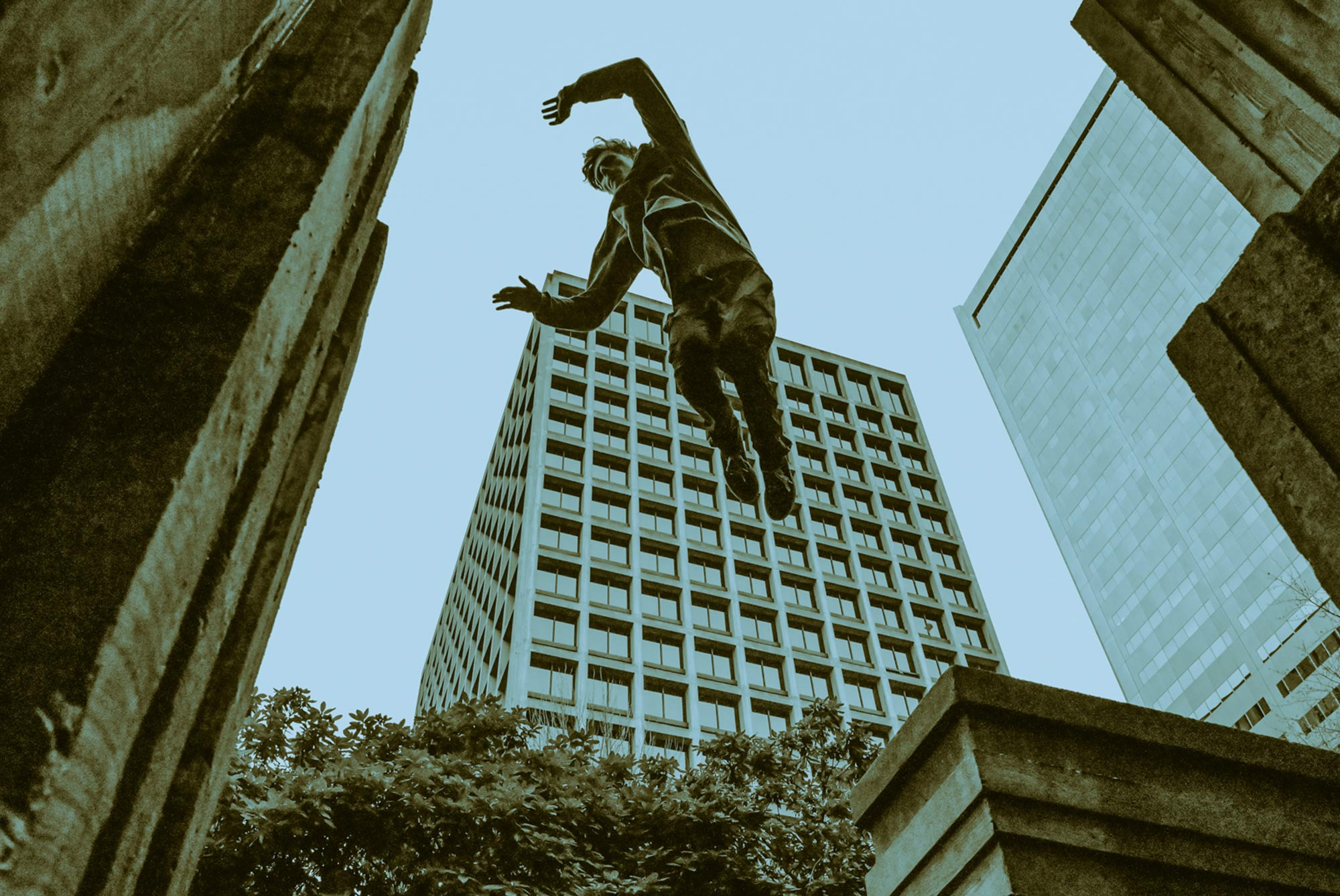 Parkour photo, by Gibran Hamdan Seattle photographer