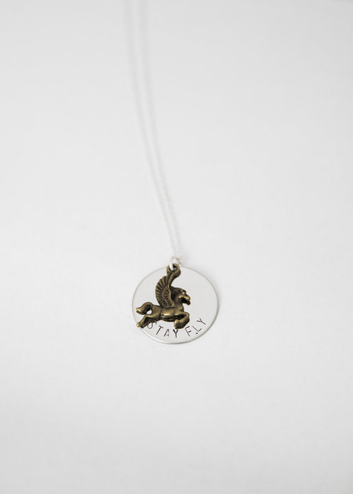 Stay Fly Pegasus Necklace