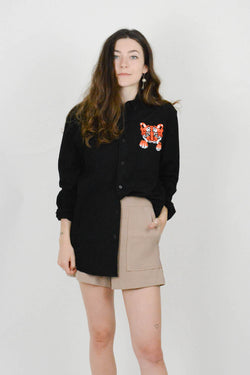 Womens Tiger Dress Shirt