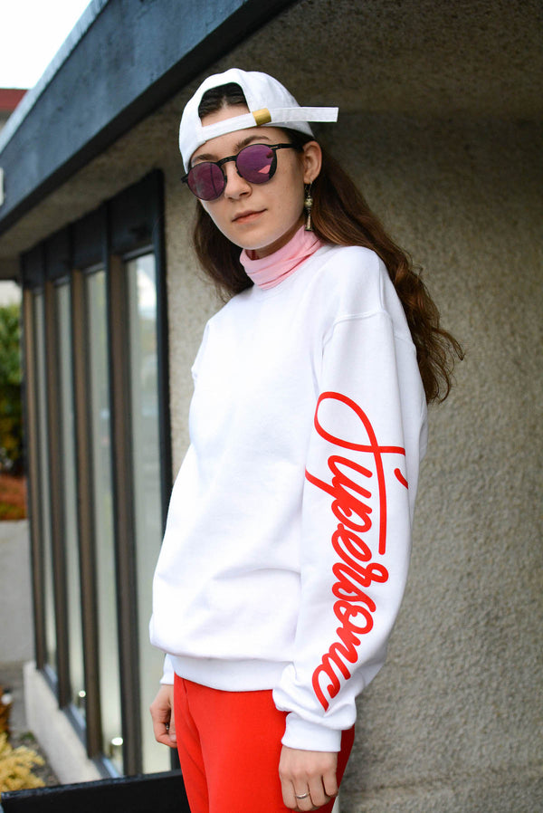 Womens Supersonic White Sweatshirt