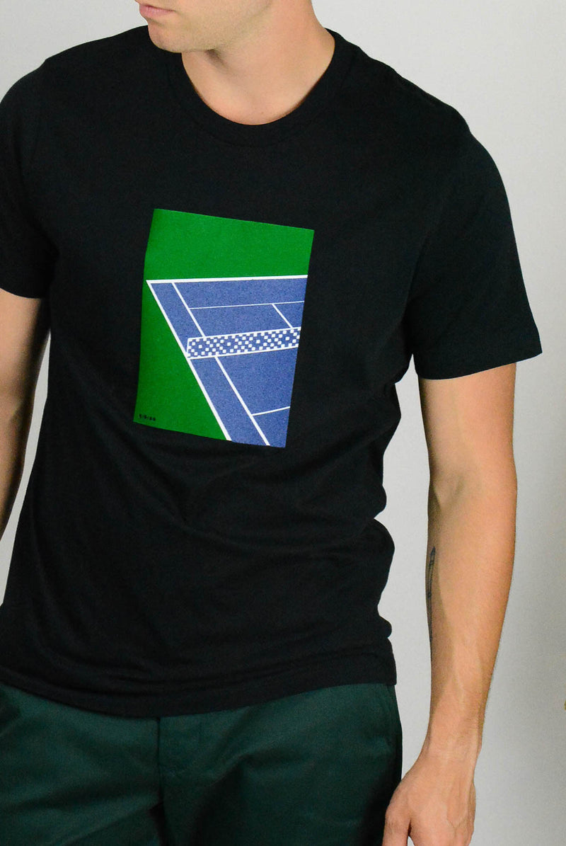 Tennis Court Black Tee