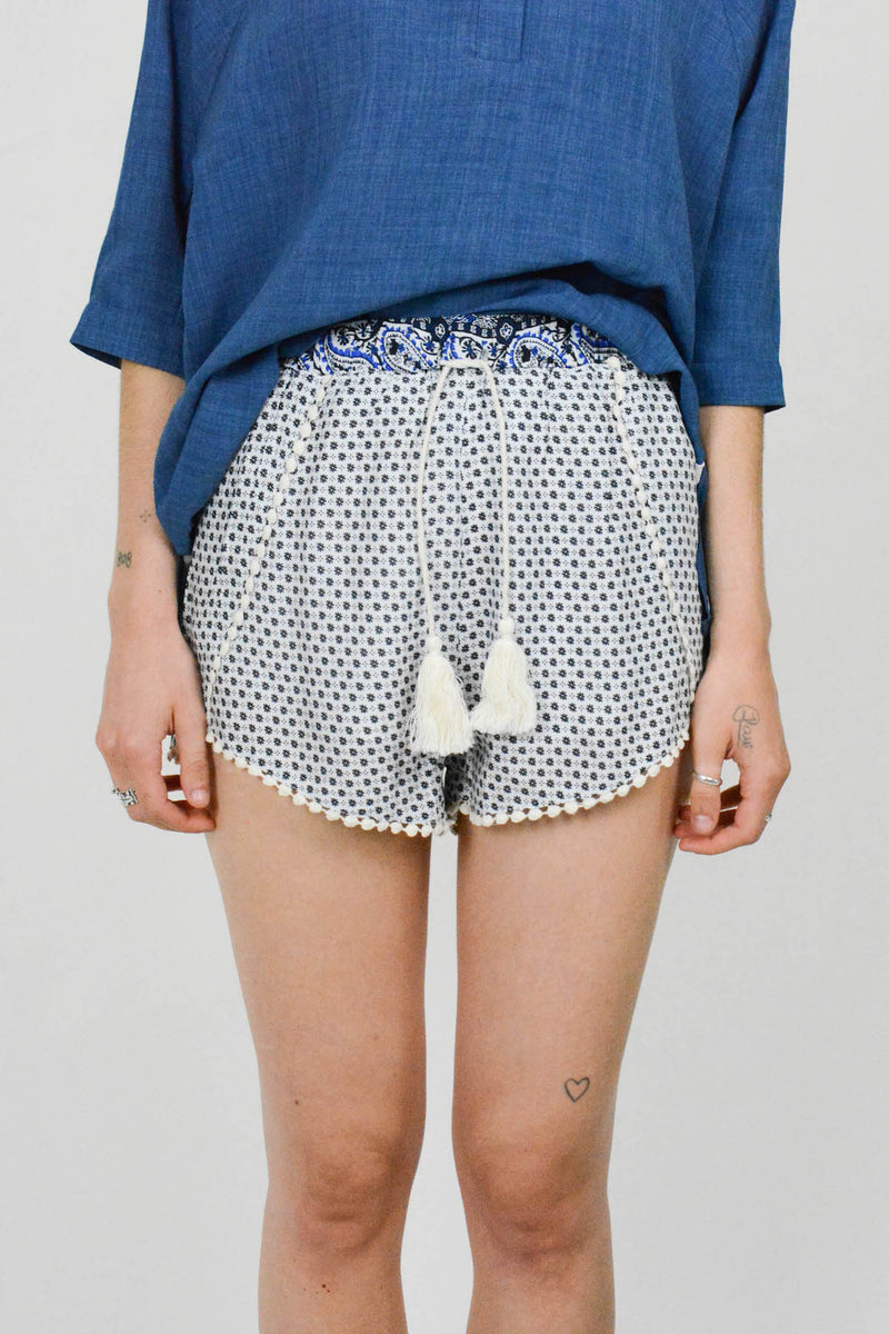 Mosaic blue short