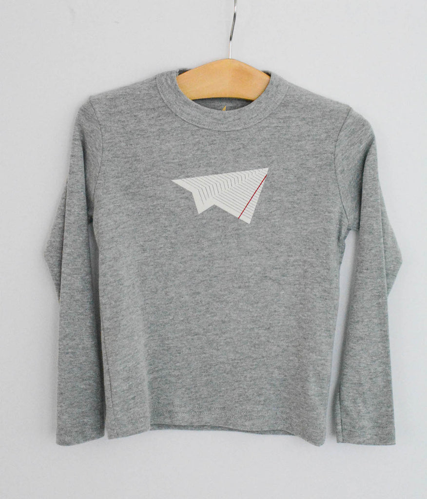 Lined Paper Plane long tee