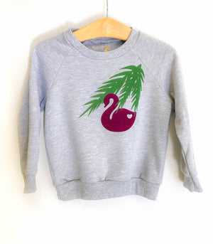 Swan and leaves sweatshirt
