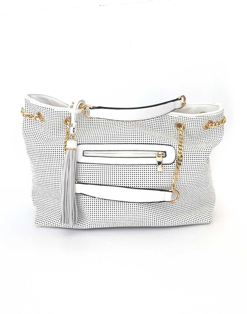 Perforated Shoulder Bag