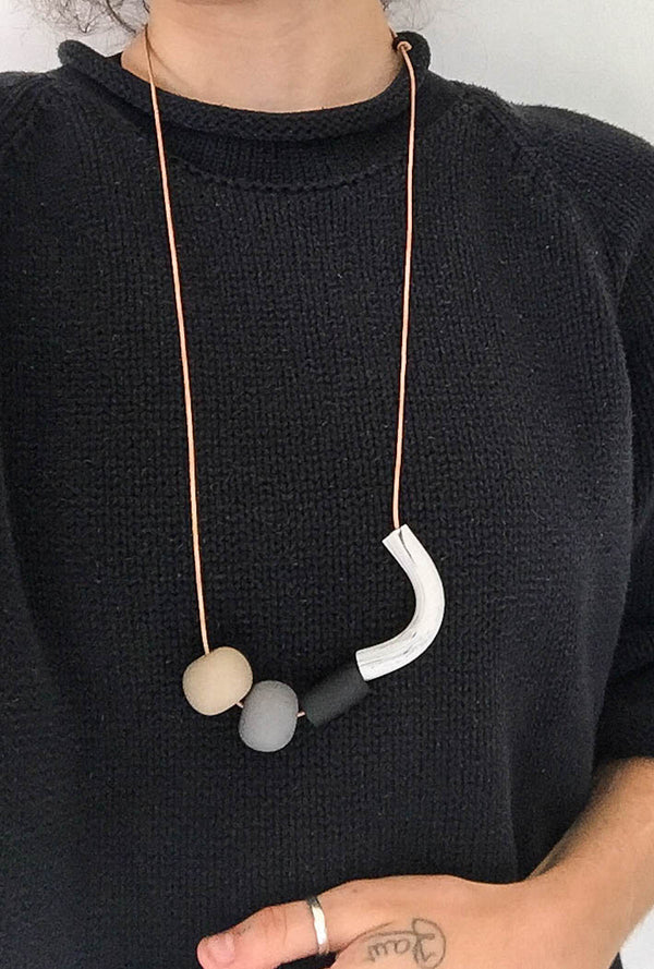 Sea & Pattern Bones and Stones Necklace