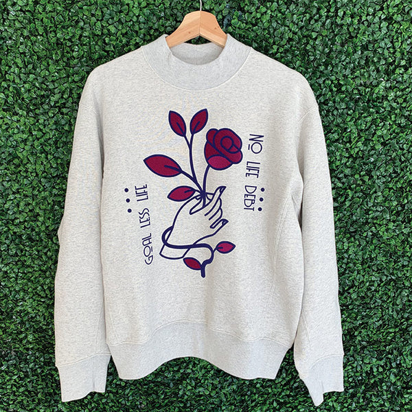 Coming Up Roses Mock Sweatshirt